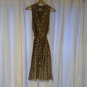 Ann Klein Sleeveless Waist tie dress